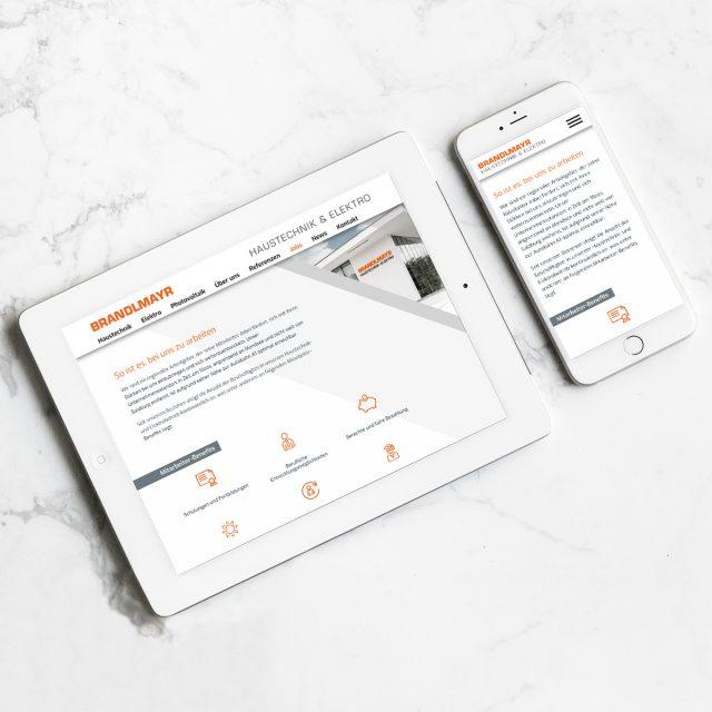 Brandlmayr – Haustechnik und Elektro | Website Ansicht Mobil