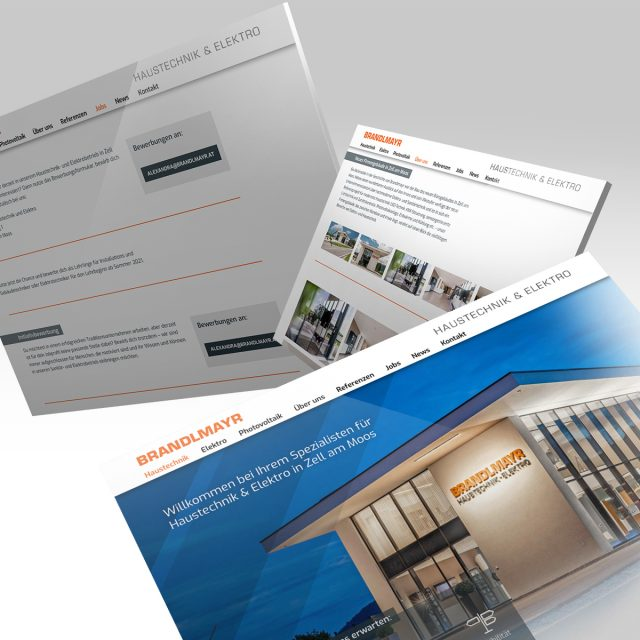 Brandlmayr – Haustechnik und Elektro   Website Ansicht Tabs